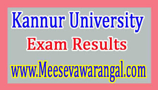 Kannur University MBA Ist Sem Jan 2016 Exam Results