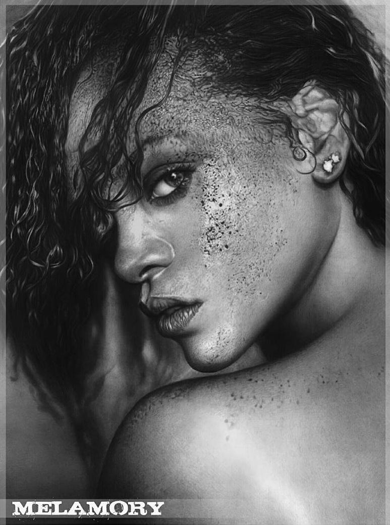 10-Rihanna-Olga-Larionova-Melamory-Realistic-Black-and-White-Portraits-of-Celebrities