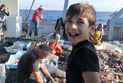 Pescaturismomallorca Francesco no puede ocultar su felicidad