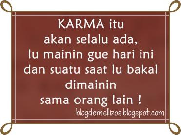 Gambar DP BBM Kata Kata Karma Cinta buat Mantan