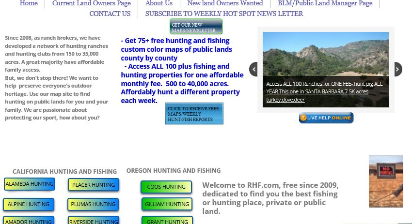 2017 pig hunting in california with boar hunting maps for Hunting and fishing forecast
