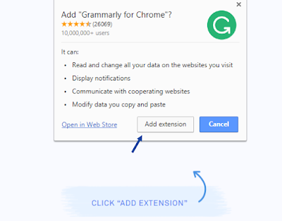 Using Grammarly browser extension