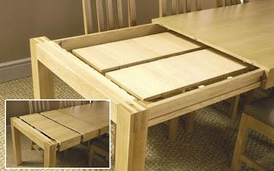 Giới thiệu mẫu bàn ăn gấp bằng gỗ Tùng dành cho nhà nhỏ 1