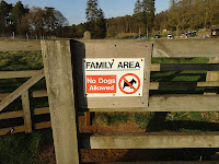 Family Area No Dogs Allowed