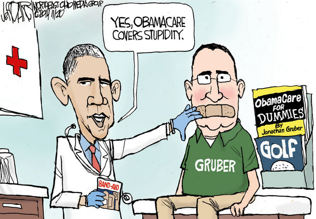 president obama meme putting a bandaid on the mouth of Gruber