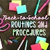 Back-to-School Routines & Procedures