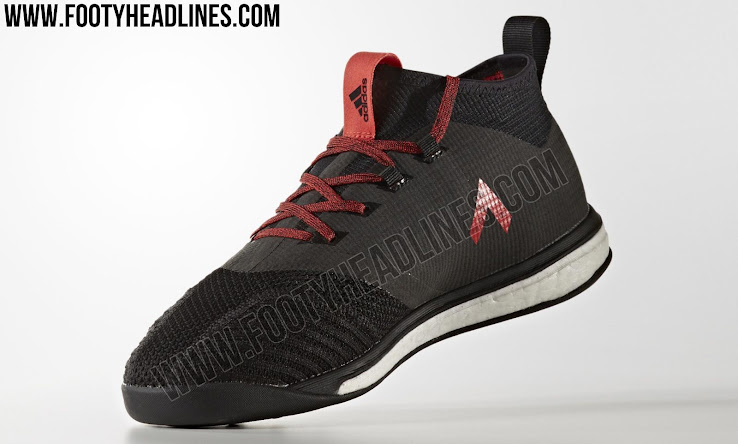 To absorb the higher pressure occurring on the likes of concrete surfaces,  the Adidas Ace 17.1 TR boots have a relatively thick Boost midsole that  goes ...