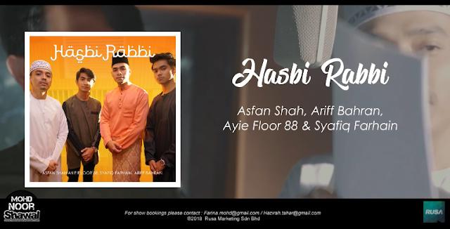 Lirik Asfan Shah, Ariff Bahran, Ayie Floor 88 & Syafiq Farhain - Hasbi Rabbi