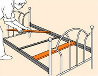 How to Fix Weak Bed Frame, bed, bedding, weak bed frame, weak bed wood slat
