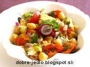 Cícerovo-paradajkový šalát - recept