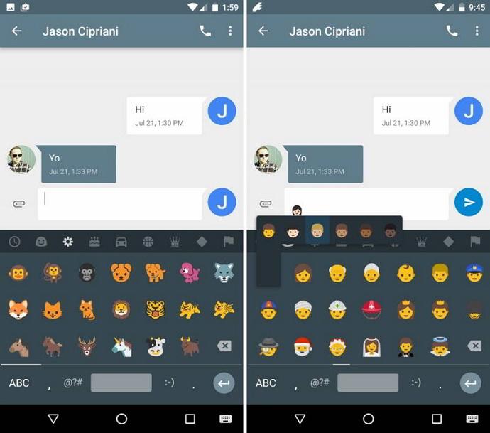 New emoji Android N