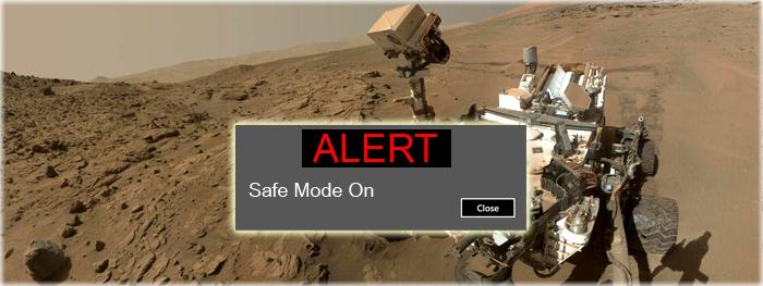 rover Curiosity entra em modo de segurança