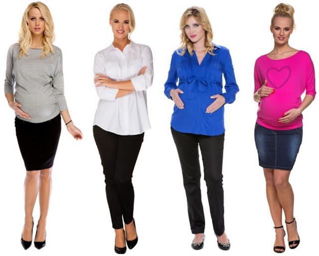 spodnie dla kobiet w ciąży, spódnice dla ciężarnych kobiet, bluzki, tuniki i koszule dla przyszłych mam