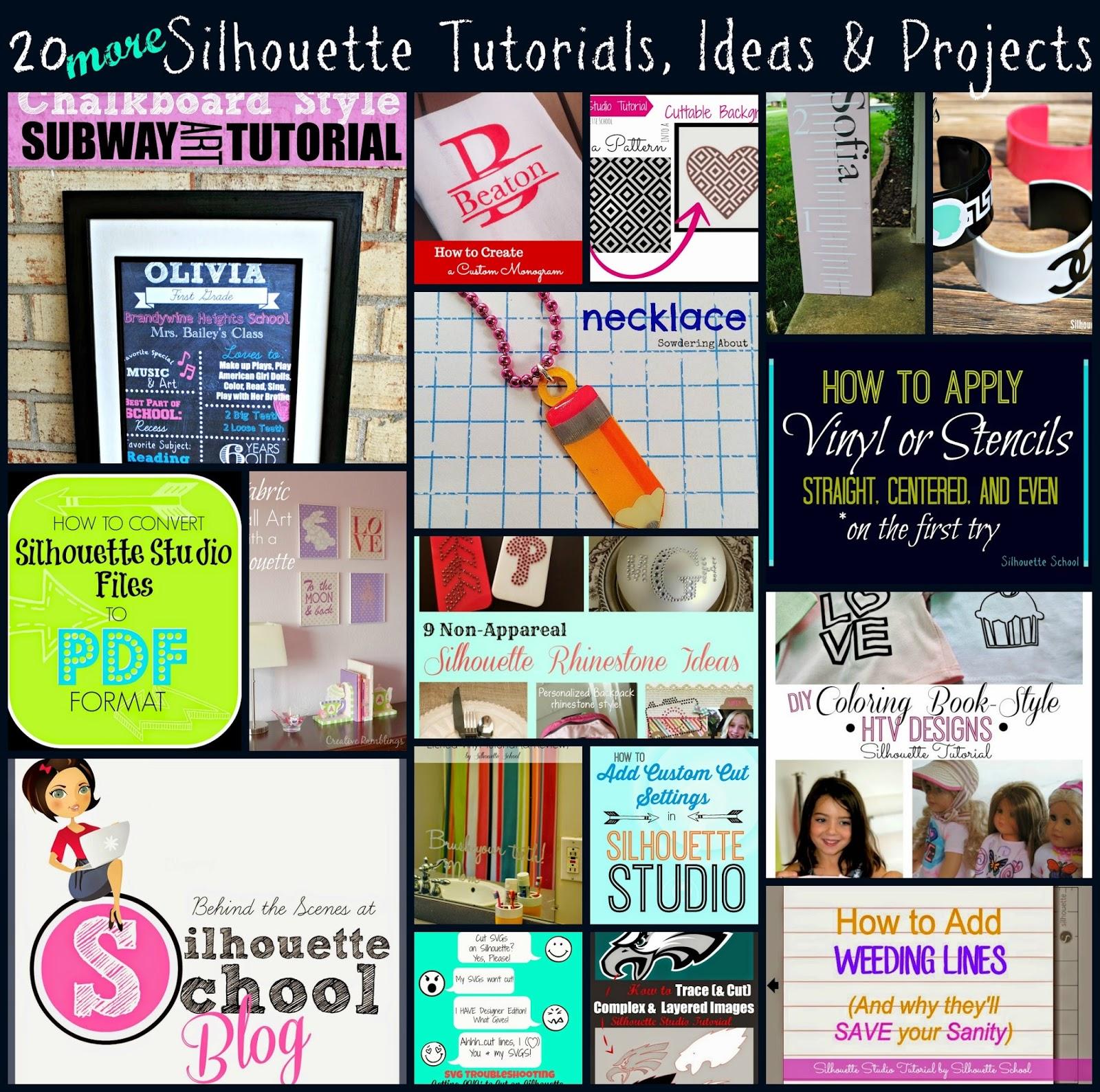 Silhouette, Silhouette tutorial, Silhouette Studio, Silhouette Cameo, Silhouette School Blog