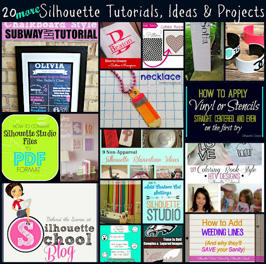 20 Silhouette Tips, Tricks and Project Ideas (August Wrap Up)