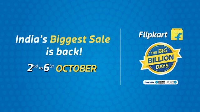 Flipkart Big Billion Days Sale from October 10