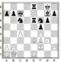 Posición de la partida de ajedrez Leteletier - Fischer (Leipzig, 1960)