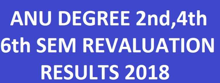 ANU Degree 2nd/4th/6th Sem Revaluation Results
