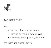 Browser offline page notification