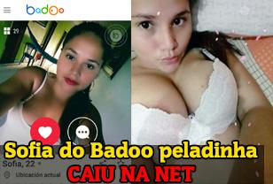 Caiu na net Sofia do Badoo em fotos peladas