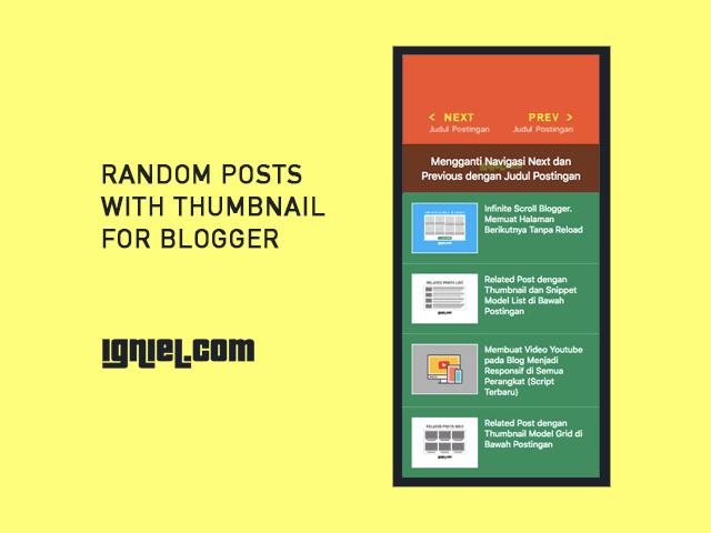 Cara Memasang Script Random Posts dengan Thumbnail di Blogspot