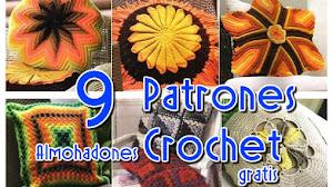 Los mejores 9 almohadones para tejer / patrones crochet