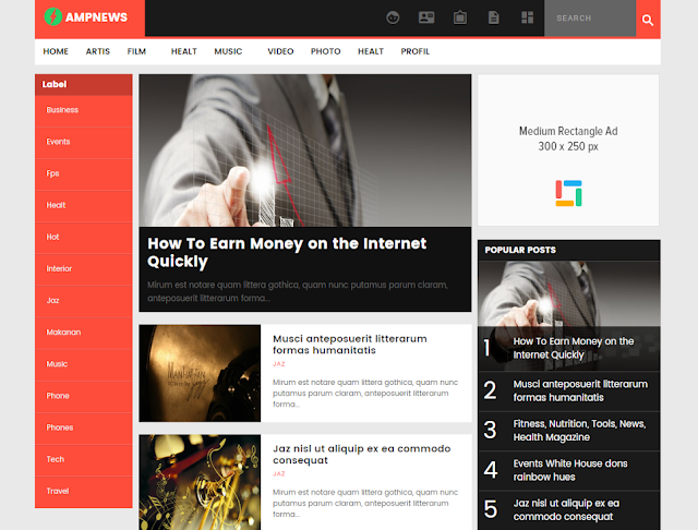 AMPNews Blogger Template