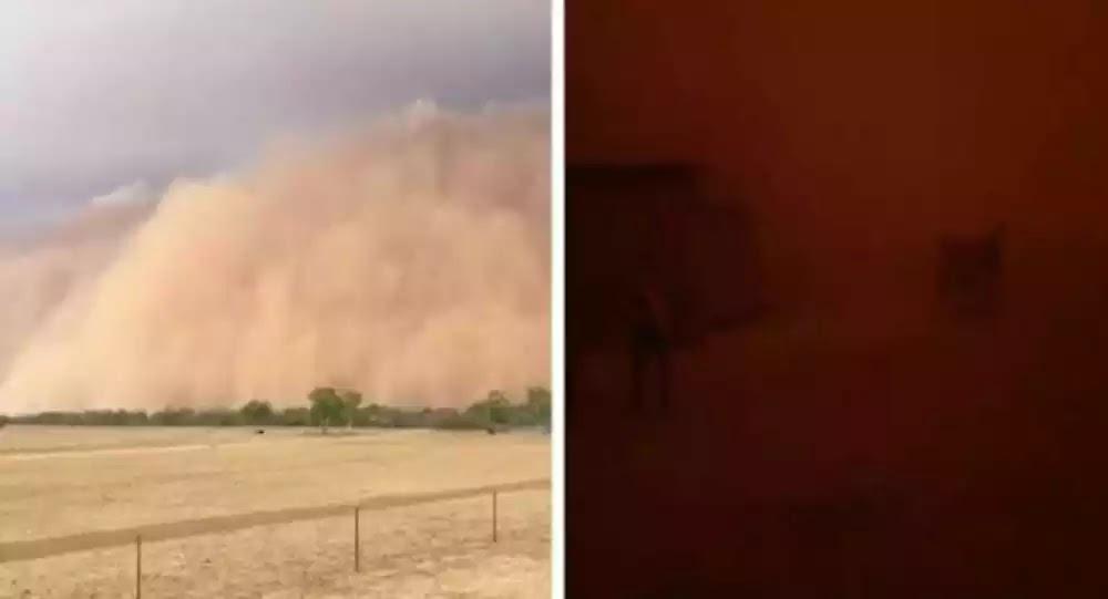 Φοβερή αμμοθύελλα καλύπτει ολόκληρη πόλη στην Αυστραλία - Βίντεο