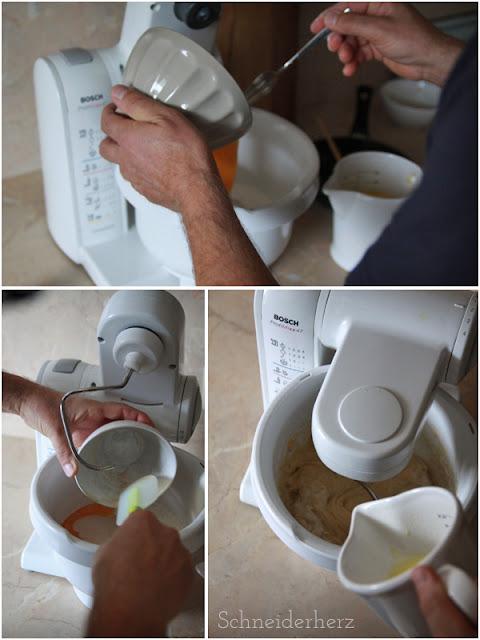 Ochsenaugen, Pförtchen- Teig zubereiten