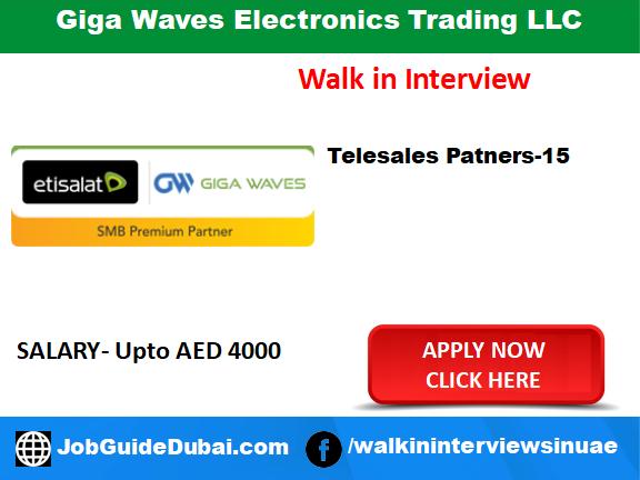 Giga Waves Electronics Trading LLC career for Telecalling, Telecom, Telesales Executive and Sales Manager job in Dubai