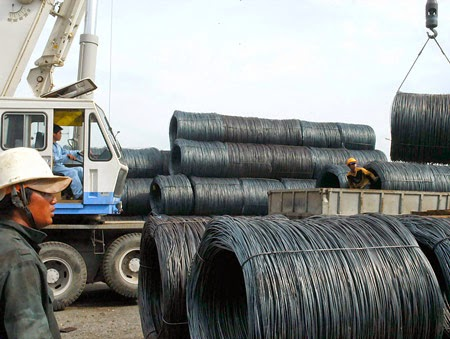 Sắt thép Trung Quốc vào VN bằng 65% sản lượng của các nhà máy thép trong nước