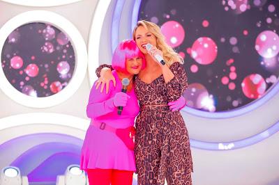 Pink e Eliana (Crédito: Gabriel Cardoso/SBT)