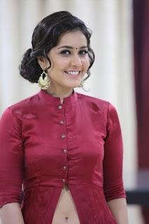 Actress Rashi Khanna Stills in Red Dress at Bahar Cafe Restaurant Launch  0034
