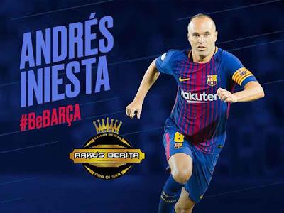 Iniesta Perbarui Kontrak Baru Seumur Hidup Di Barcelona