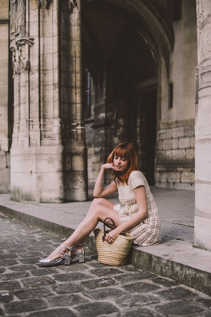 Parisian style: mini dress vintage crochet by Miss Pandora {Cool Chic Style Fashion}