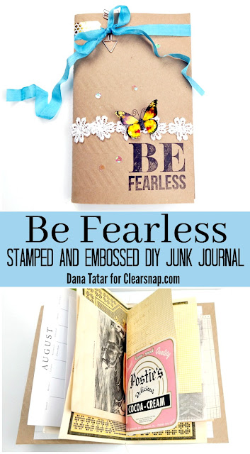How to Create a Junk Journal with Stamped and Embossed Papers by Dana Tatar