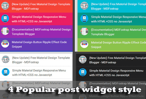 4 Popular Post widget Keren Blogger