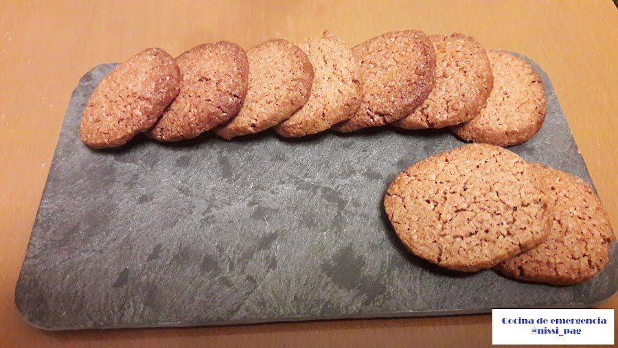 Receta de galletas de canela y chocolate
