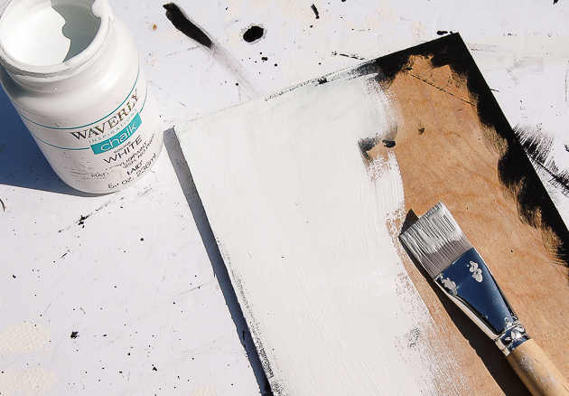 painting plywood for image transfer