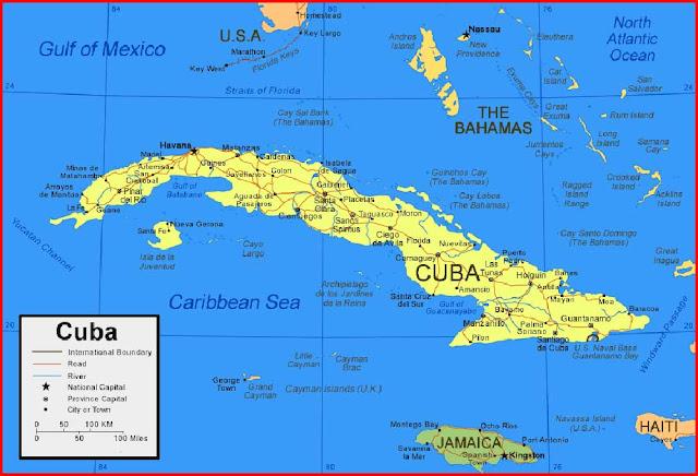 Gambar Peta Kuba