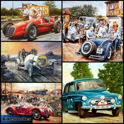 Wallpapers coches antiguos - Art painting