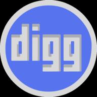 digg button outline