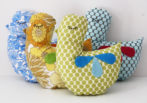 Vintage Bird Pillows