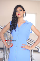 Telugu Actress Mounika UHD Stills in Blue Short Dress at Tik Tak Telugu Movie Audio Launch .COM 0295.JPG
