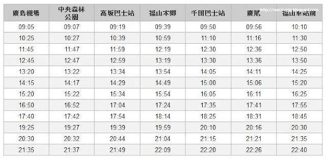 廣島機場去JR福山~花小錢去旅行