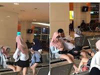 Astaghfirullah, Pakai Jilbab Tapi Cuma Pakek Celana Pendek, Wanita ini Buat Heboh Netizen
