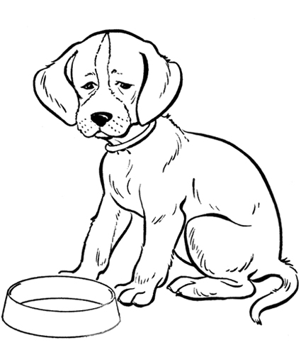 printable puppy coloring pages - printable dog coloring pages colouring for kids