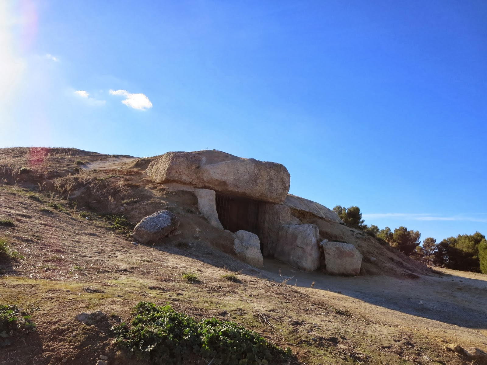 A Dolmen in Antequera, Spain