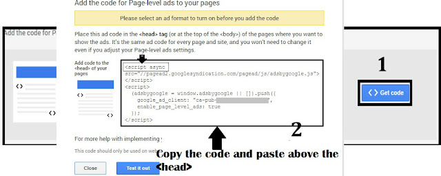 Setup Google Page Level Ads