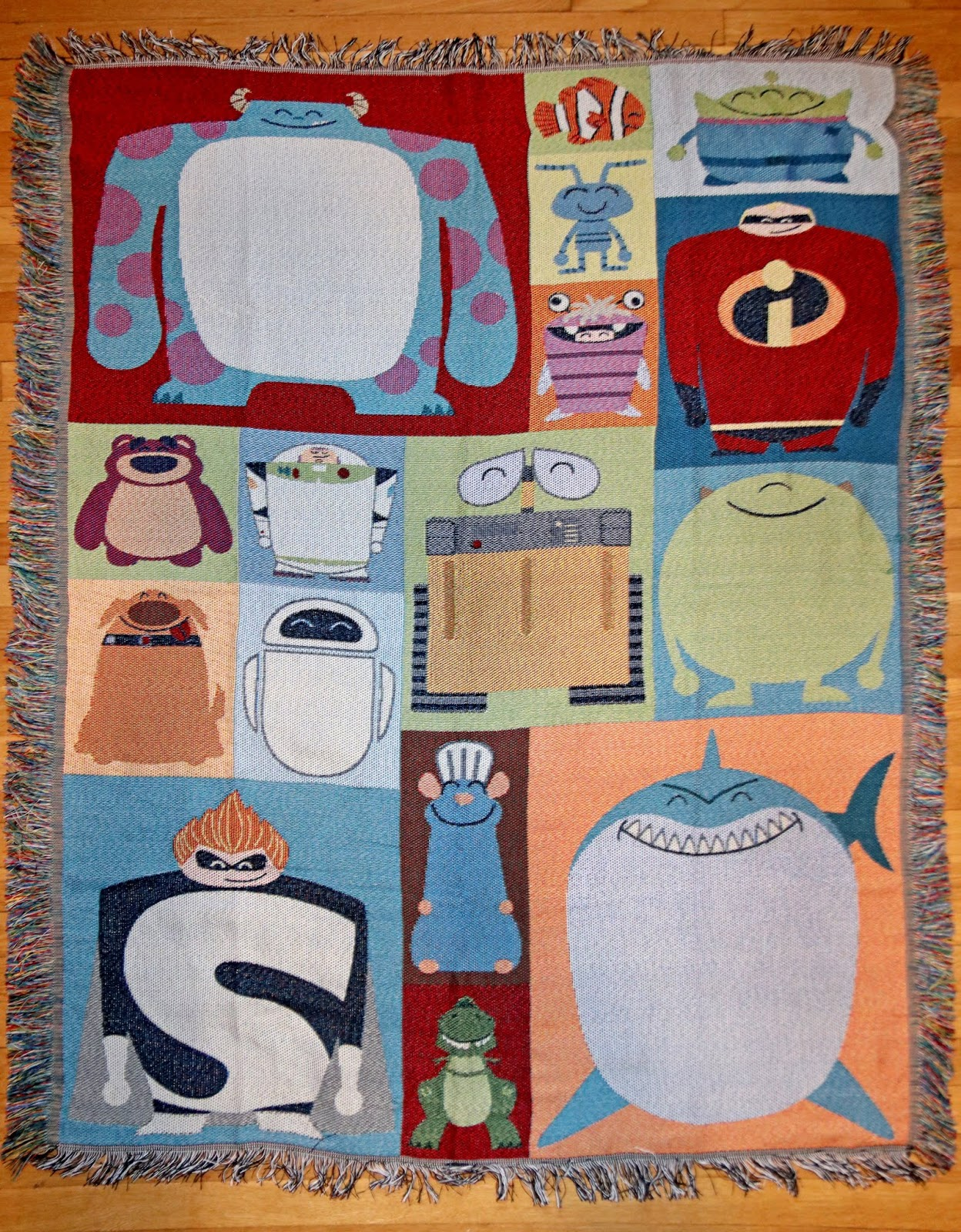 pixar throw blanket